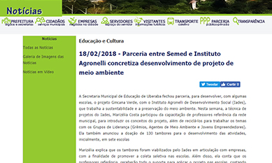 IADES é destaque no site da PMU
